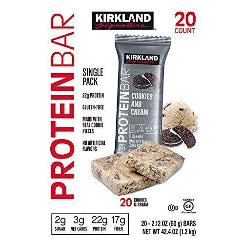 KIRKLAND SIGNATURE(カークランド) PROTEIN BAR プロテインバー Chocolate Chip Cookie Dough (チョコレー...