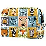 Große Schminktasche Reißverschlusstasche Travel Cosmetic Organizer für Frauen und Mädchen - Set Waldtiere