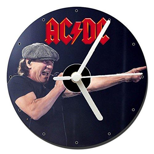 MasTazas AC/DC ACDC Brian Johnson Reloj CD Clock 12cm