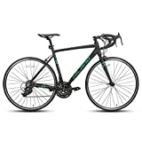 Hiland Road Bike 700c Racing Bike Aluminum City Commuter Bicycle with 21 Speeds Black 57CM