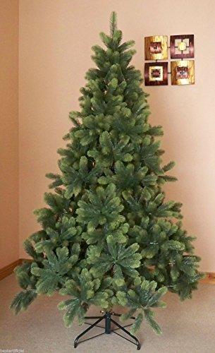 Miglior albero di Natale artificiale 2,4 m Premium Real Feel incernierato con 2054 Full Abete PE Suggerimenti per Natale interno