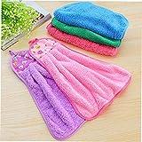 N/V Colgando agua absorbente toalla de mano Rosa productos diarios familiares artículo familiar de uso diario
