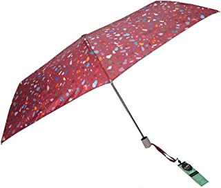 Automatic Folding Umbrella Lady Pocket Portable Umbrella Mini Sunshade Umbrella Rain and Rain Umbrella LJJOZ (Color : Red)