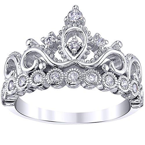 Guliette Verona 925 Sterling Silver Princess Crown Ring (7)
