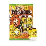 De La Rosa Pulparindo Push Hot & Salted Tamarind Pulp Candy 12pz Bag-15oz