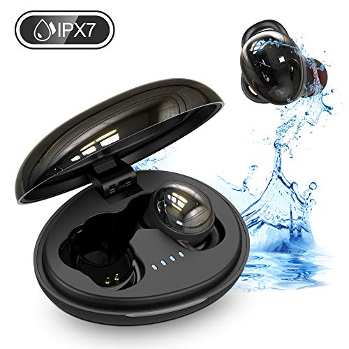 Bluetooth Kopfhörer In Ear 5.0 Sport Kopfhörer Kabellos mit 35 Std. Spielzeit IPX7 Wasserdicht Bluetooth Headsets HiFi Stereo CVC8.0 Noise Cancelling Wireless Earbuds mit Dual Mikrofon Silikonhaken
