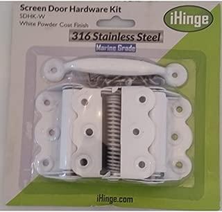Screen Door Hardware Kit SS-316 Marine Grade Stainless Steel-White Powder Coat