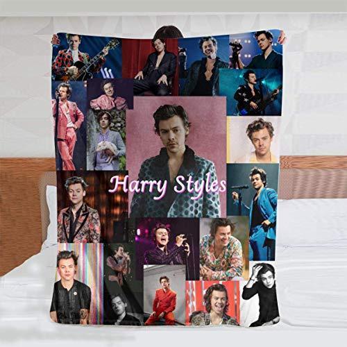 Sherpa Blanket Living Blankets Mantas de Peluche Harry Styles 19 Manta de Forro Polar Ultra Suave Manta de Felpa de Franela de Terciopelo 40 x 50 Pulgadas