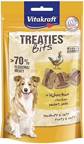 Vitakraft - 4St. Leckere Treaties Bits Hühnchen a 120g für Ihren Hund