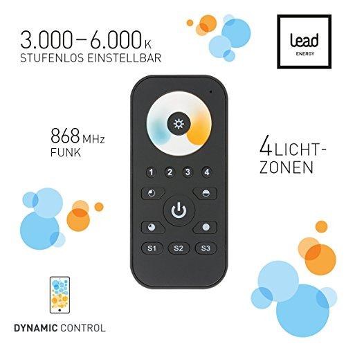 Fernbedienung LED Panel der Dynamic White 30, 60, 62,120 und 120 Slim Lead Energy 70100007