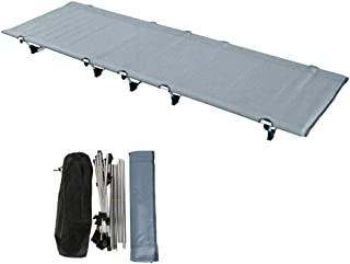 Ultralight Portable Folding Single Camping Cot Tent Bed Aluminium Alloy Metal Frame Heavy Duty Include Storage Bag for Indoor Outdoor Hiking Fishing Hunting Car Travel for Adult or Kids