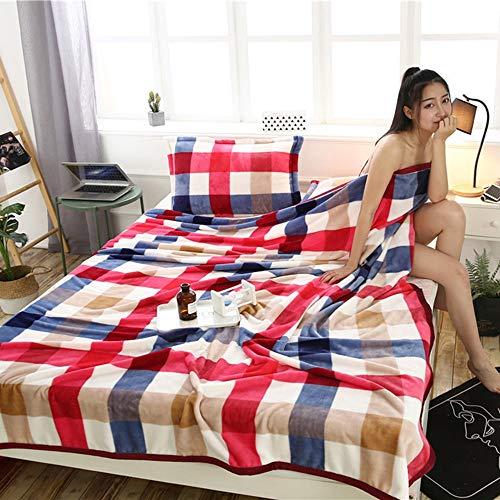 YJJSL Manta de Franela Que Espesa la Manta Que Cubre la sábana de Coral cálido para prevenir el frío (Color : S, Size : 150X200)