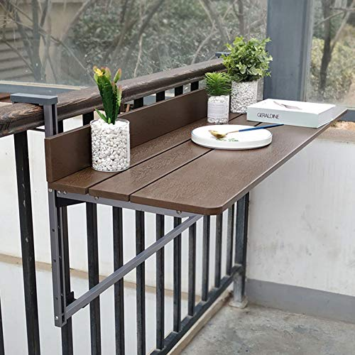 Folding table Balkon GeläNder HäNgetisch | Computertisch | Home Kleine Bar | Klapptisch Heben | Balkon Beistelltisch | Sonnenschutz, Regendicht, HöHenverstellbar