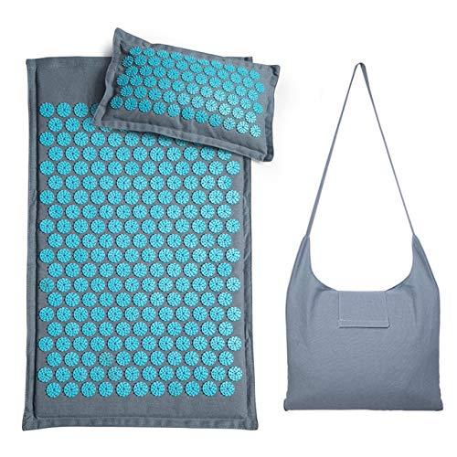 Eco Freundliche Massage Yoga Matte Mit Tasche Kokospalme Buchweizen Akupunktur Spike Kissen Kissen Körper Entspannung Stress AbbauenSet B Mit Tasche