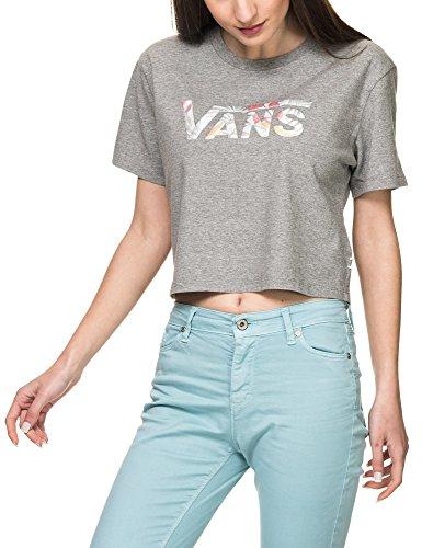 Vans_Apparel Cali Floral Box Top Camiseta, Gris (Grey Heather Grh), Large para Mujer