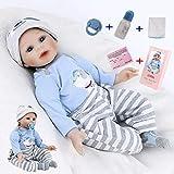 ZIYIUI Reborn Baby Doll Boy 22 Zoll 55 cm Realistisches weiches Silikon Vinyl handgemachtes neugeborenes Baby Boy Girl Spielzeug Geschenk