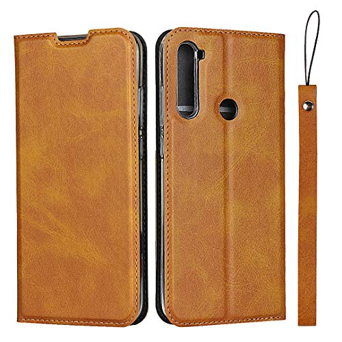 Hülle für Xiaomi Redmi Note 8T, SONWO Ultra dünn PU Ledertasche Flip Brieftasche Handyhülle für Xiaomi Redmi Note 8T, mit Karteneinschub und Magnetverschluss, Braun