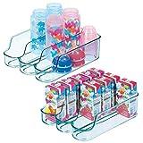 mDesign Juego de 2 cajas de plástico para guardar comida para bebés –...