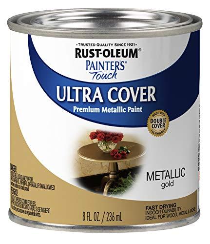 Rust-Oleum 240287 Painter's Touch Satin, HP, Half Pint, Metallic Gold