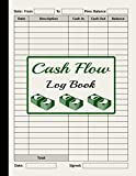 Cash Flow Log Book: Petty Cash Large Ledger Book   Large Daily Cash Book and Financial Record Journal   Financial Record Keeping Notebook For Business