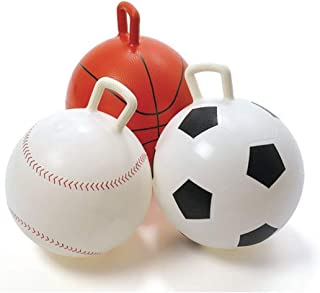 Wisechoice Durable Elastic PVC Sport Ball Hoppers Set of 3 Includes Basketball, Soccer Ball, and Baseball