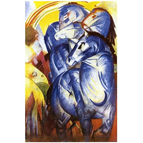 Franz Marc La torre de los caballos azules 1913 Reproducciones de pintura Pintura al óleo firmada por el autor Impreso en lienzo - 60x80cm Sin marco