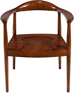 Luqifei Sillas de Comedor Silla de Escritorio sillón nórdica Silla Silla Retro Equipo de American Retro Moderno y Minimalista Cocina Comedor Muebles (Color : Brown-1, Size : 63x53x76cm)