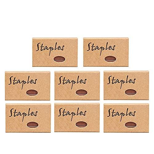 7600 Pcs Rose Gold Staples Standard 24/6 26/6 12mm #12 Width Staples for Stapler Refills Office Supplies, 8 Boxes(Rose Gold)