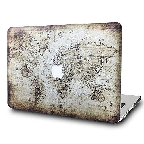 Nobranded AQYLQ Funda Dura para 2020 2019 2018 MacBook Air 13 Pulgadas A2179 A1932 con Pantalla Retina & Touch ID, Carcasa Rígida Protector de Plástico Cubierta, Mapa R99