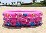 APQMR Glow Baby Pool Cartoon Blau/Pink PVC Aufblasbarer Pool Hochwertiger Planschbecken Für Den Heimgebrauch Große Größe Für Familienkinder Erwachsene 130X85X50Cm Wasserspielzeug-Pink