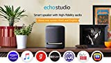 Immersive sound – 5 speakers produce powerful bass, dynamic midrange, and crisp highs. Dolby Atmos technology adds space, clarity, and depth, making Echo Studio the best-sounding Echo device. Voice control your music - Stream music from Amazon Prime ...