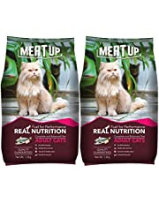 Meat Up Adult(+1 year) Dry Cat Food, Ocean Fish, 1.2kg (Pack of 2)