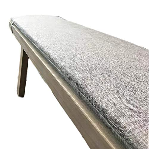 Yzzlh Cojín grueso de banco de 2/3/4 asientos, alfombrilla rectangular desmontable, cojín de asiento interior y exterior, cojín de repuesto para silla de solar/banco de comedor/tumbona (C,30 x 120 cm)