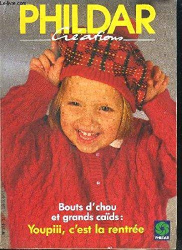 PHILDAR CREATION N°225 - SPECIAL ENFANTS 35 MODELES POUR PETITS ET GRANDS sommaire : Gilet, manteau, pull, robe, jupe, long pull, cardigan, blouson - etc...