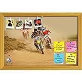 ArtzFolio Motocross Bike Race Sport D2 Printed Bulletin Board Notice Pin Board Soft