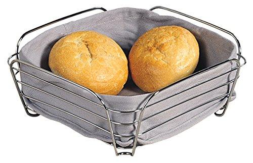 Alessi - 90851 - Panière à pain - Corbeille en tissu et métal - Gris