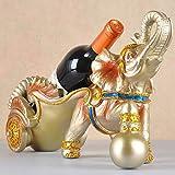 L.W.S Estante de Vino Rack de Vino Icono Creativo Estante de Vino Rack Vino Estante Europeo Restaurante Vino Armario Decoración Artesanía Decoración de Resina Artesanía