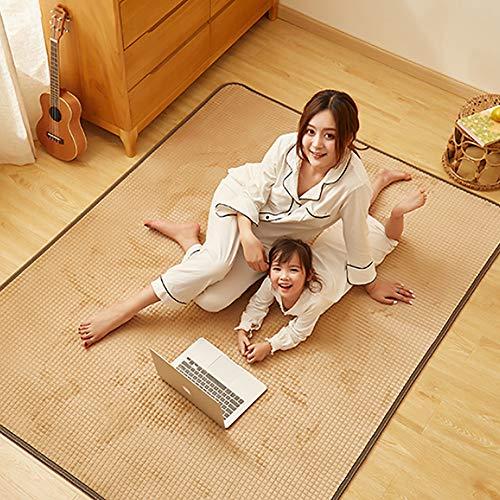 ZXT-DT Fußwärmer Matte, Kohlenstoff-Kristall Heizung Teppich, Elektro-Fußbodenheizung Matte, Multifunktions-Thermostat Heizmatte Movable,100 * 150cm