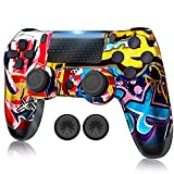 RIIKUNTEK Wireless Controller Compatible with PS 4/Pro Console/Slim/PC/Android/IOS 13 with Dual Vibration, Touch Pad, Bluetooth, Stereo Headset Jack, Six Axis Motion Control, Rechargeable Orange