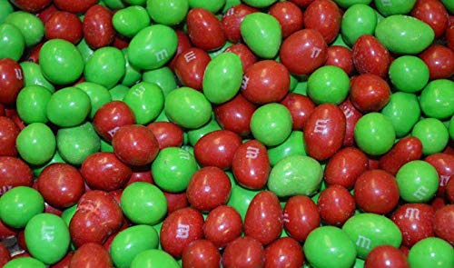 M&Ms Peanut Bulk Wholesale - Holiday Colors - Red & Green
