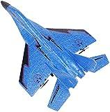 ZJDM Jets de Control Remoto Race RC Jets de Combate de Alta Velocidad Espuma Duradera 3-CH 2.4GHz Transmisor Avión RC con tecnología Segura (Color: Azul)