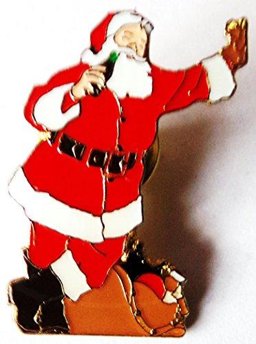 Coca Cola - Weihnachtsmann mit Arm oben - Pin