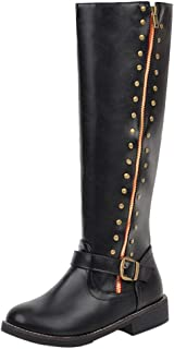 TAOFFEN Women Classic Riding Boots Pull On Knee High Boots