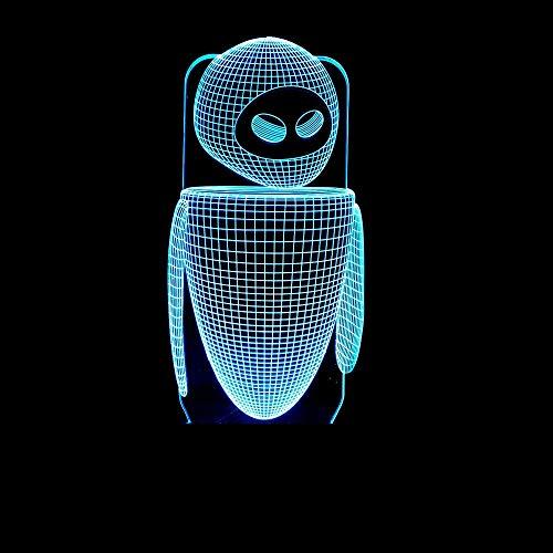 XFSE Lámpara de mesa de la lámpara táctil robot 3D lámpara de siete colores táctil led de la visión de la lámpara de dormitorio pequeña lámpara de mesa