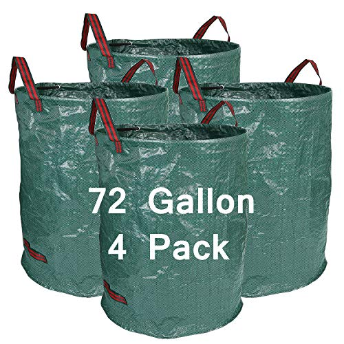 Learn More About Hengu 4-Pack 72 Gallons Large Garden Bags,Reusable & Durable Heavy Duty Leaf Waste ...
