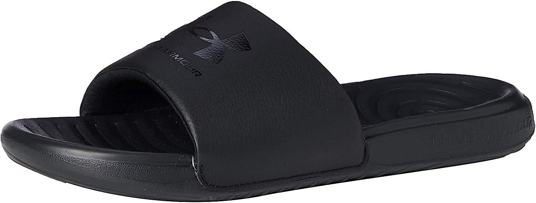 Under Armour Men's Ansa Fix Slide Sandal, Black (003)/Black, 13