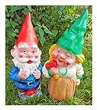 N / A Frau und Mann Gnom Gartenzwerg je 36 cm im Set Zwerg Germany Garten bruchfest PVC Deko GOM 9060 9061