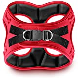 metric USA Comfort fit Dog Harness Easy to Put-on Comfortable Soft Padded Adjustable Step in Pet Vest Harnesses for Small and Medium Dogs, Red, Large, Chest 20-22'