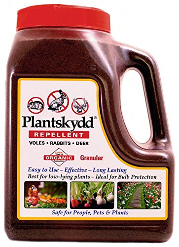 Plantskydd PS-VRD-3 Granular Animal Repellent for Deer, Rabbits and Voles, 3.5LB Shaker Jug