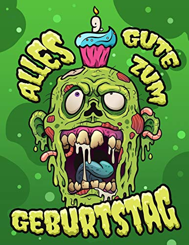 Alles Gute zum 9. Geburtstag: Lustige Zombie Skizzenbuch für Kinder perfekt für Kritzeln, Zeichnung und Skizzieren. Vergessen Sie die Geburtstagskarte und erhalten Sie stattdessen ein Geburtstagsbuch!